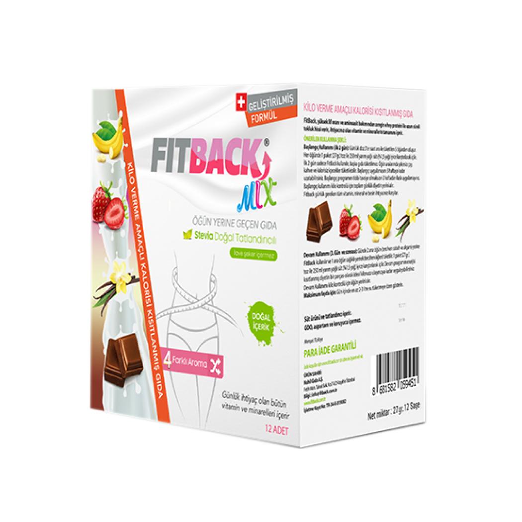 FITBACK MIX | Tanışma Paketi (4 Aroma-12 Öğün)