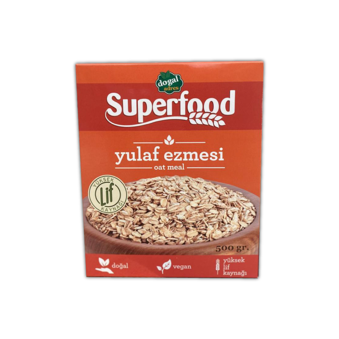 DoğalAdres Superfood | Oatmeal - Yulaf Ezmesi (500 GR)