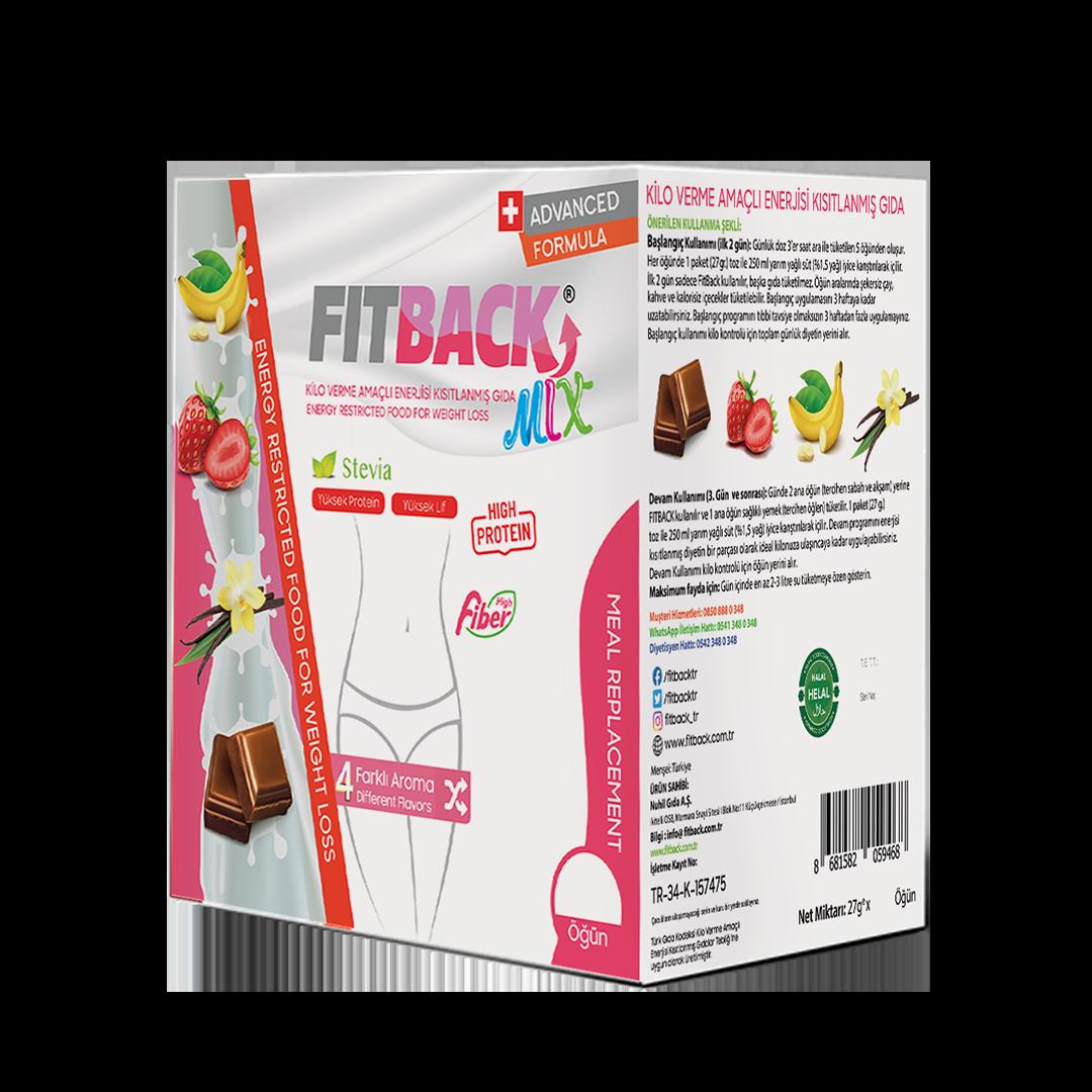 FITBACK MIX | Tanışma Paketi (4 Aroma-16 Öğün)
